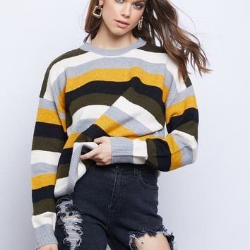 Darby Multicolored Chunky Sweater