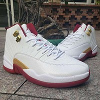 Air Jordan 12 Retro Cherry White Wine Red