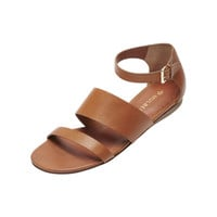 Lizzie Flat Sandal in Oak Vachetta | Family | Mulberry