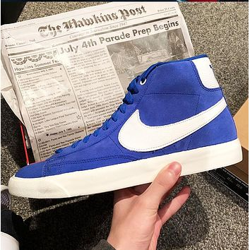 Nike Blazer Mid 77 Fashion New Hook Running Women Men Shoes Blue