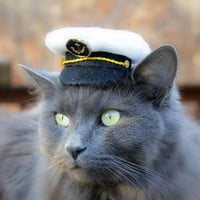 Marine Captain Mini Hat by ToScarboroughFair on Etsy