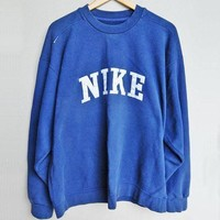 NIKE Fashion Casual Long Sleeve Sport Top Sweater Pullover Sweatshirt F
