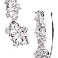 kate spade new york 'be adorned' crystal ear crawlers | Nordstrom