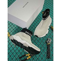 Balenciaga Speed Trainers With Tricolor Sole Gray