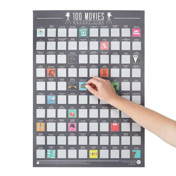 100 Movies Scratch Off Poster | Classic Movies, Film Buff