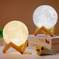 3D Print Moon Light Touch Switch Table Lamps Bedroom Bookcase