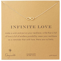 Dogeared Infinite Love Gold Plated Chain Statement Necklace