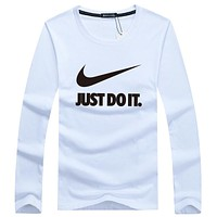 NIKE 2018 tide brand fashion sports knit long sleeve pullover sweater F-A000-PPNZ white
