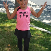 Ballet Kids Tank - Girl's Clothing - Dancer - Ballet Shirt - Glitter - Ruffles With Love - RWL Kids
