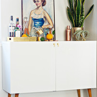 IKEA HACK: Mid Century Bar Cabinet - The Vintage Rug Shop