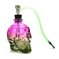 New High Quality Glass Water Pipe Hookah Punk Ghost Head Skull style Tobacco Herb WEED Shisha Narguile Gift Box Package