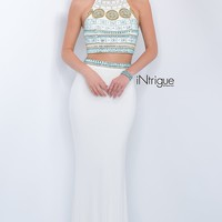 Long Ivory Two Piece Open Back Intrigue by Blush Prom Dress