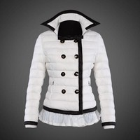 Moncler reduced Dali low collar quilted down jacket for women white