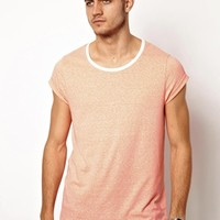 ASOS T-Shirt With Scoop Neck And Speckle Jersey