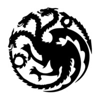 Car stying 13.6*13.9CM About Dragon Throne Game Of Car Stickers Personalized Motorcycle Vinyl Decals   Jdm