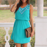 Colors Of The Wind Dress, Turq