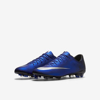 The Nike Jr. Mercurial Vapor X CR7 (10c-6y) Kids' Firm-Ground Soccer Cleat.