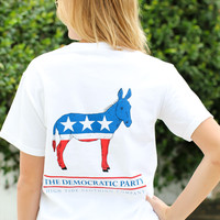 High Tide Pocket Tee: DEMOCRAT