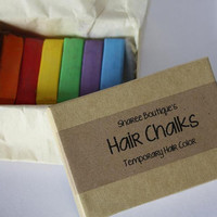 6pc. Rainbow Hair Chalk Set - Quality Cosmetic Hair Chalks from Sharee Boutique