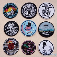 1pcs Mix fashion Patche's for Clothing Iron on Embroidered Sew Applique Cute Patch Fabric Badge Garment DIY Apparel Accessories