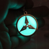 Overwatch Over watch Nerf  glowing Necklace Pendants  Shimada Genji dart Fashion Jewelry glow in the dark boys men necklace AT_83_8