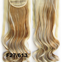 Curly synthetic hair extension,Ribbon ponytail synthetic hair extension Clip In on Hair Pony,Wavy Hairpiece,woman wigs,wig hairs,Accessories,Bath & Beauty RP-888 F27/613
