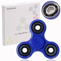 Fidget Spinner, AmyHomie Tri Fidget Hand Spinner, Ultra Fast Bearings Fidget Toys for Adults and Kids(Blue) - Walmart.com