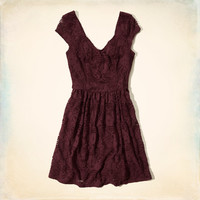 Boneyard Beach Lace Skater Dress