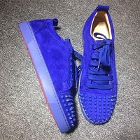 Christian Louboutin CL Low Style #2050 Sneakers Fashion Shoes Online