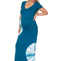 Tie Dyed Maternity Maxi Dress - Round About Way