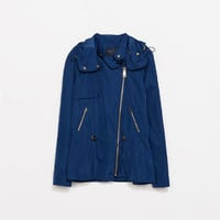 JACKET WITH HOOD AND ZIPPERS