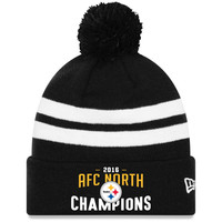 Men's Pittsburgh Steelers New Era Black 2016 AFC North Division Champions Cuffed Knit Hat