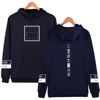 Boyfriend Style Unisex KPOP Monsta X Hoodies For Women Men Sweatshirts I.M Letter Hip Hop Hoody Harajuku Hoodie For Couple Dress