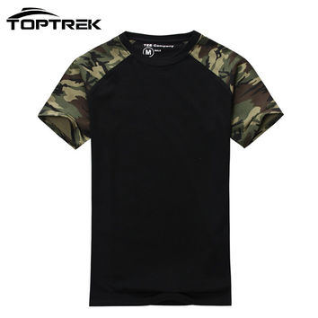 Man Casual Camouflage T-shirt Men Cotton Army Tactical Combat T Shirt Military Camo Mens T Shirts Fashion 2016 Tops & Tees
