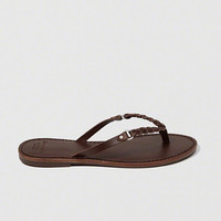 Womens Leather Braided Strap Sandals | Womens Shoes | Abercrombie.com