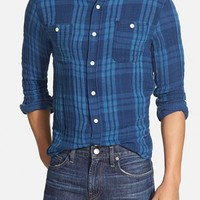 Men's Faherty Trim Fit Double Face Work Shirt