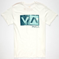 Rvca Balance Texture Mens T-Shirt Off White  In Sizes