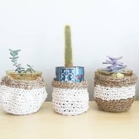 Boho Room Decor- Shabby Chic Decor- Bohemian Furniture~ Hanging Planter- Living Room Decor- Home Decor- Boho Chic- Mother's day gift~  Dorm
