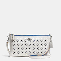 HERALDcrossbodyin perforated leather