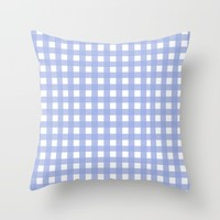 Blue Check pattern Throw Pillow by Allyson Johnson | Society6