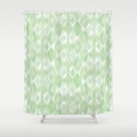 Harlequin Marble Mix Greenery Art Print by Lisa Argyropoulos
