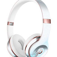 Mixtured Blue 99 Textured Marble Full-Body Skin Kit for the Beats by Dre Solo 3 Wireless Headphones