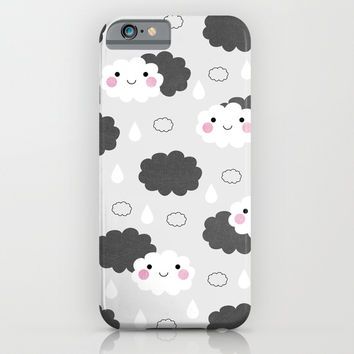 Happy Little Clouds iPhone & iPod Case by Elisabeth Fredriksson