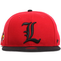 Louisville Cardinals Two Tone Sure Shot Snapback Hat Red / Black