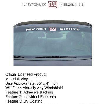 Licensed Official New NFL New York Giants Pick Your Gear / Car Truck Accessories Official Licensed