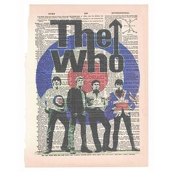 Art N Wordz You Know Who The Who Rock Band Music Original Dictionary Page Pop Art Print Poster