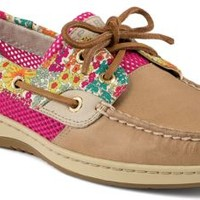 Sperry Top-Sider Bluefish Liberty Floral Print 2-Eye Boat Shoe Linen/BrightPink, Size 5.5M  Women's Shoes