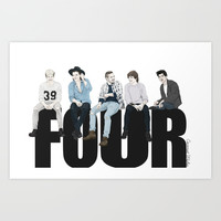 One Direction Four Art Print by Coconut Wishes