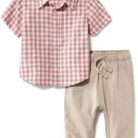 Patterned Shirt & Jogger Set for Baby   Old Navy