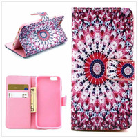 Ethnic Minorities Totem Print Leather Case Cover Wallet for iPhone 6 / iPhone plus